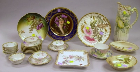 Group of Assorted Decorated Porcelain Tableware and Items