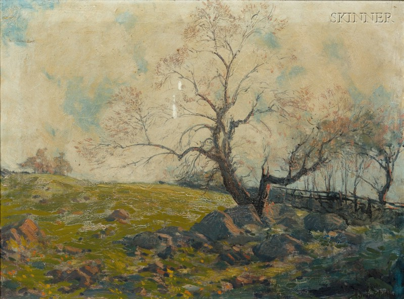 Hermann Dudley Murphy (American, 1867-1945)      A New England Pasture Old Apple Tree