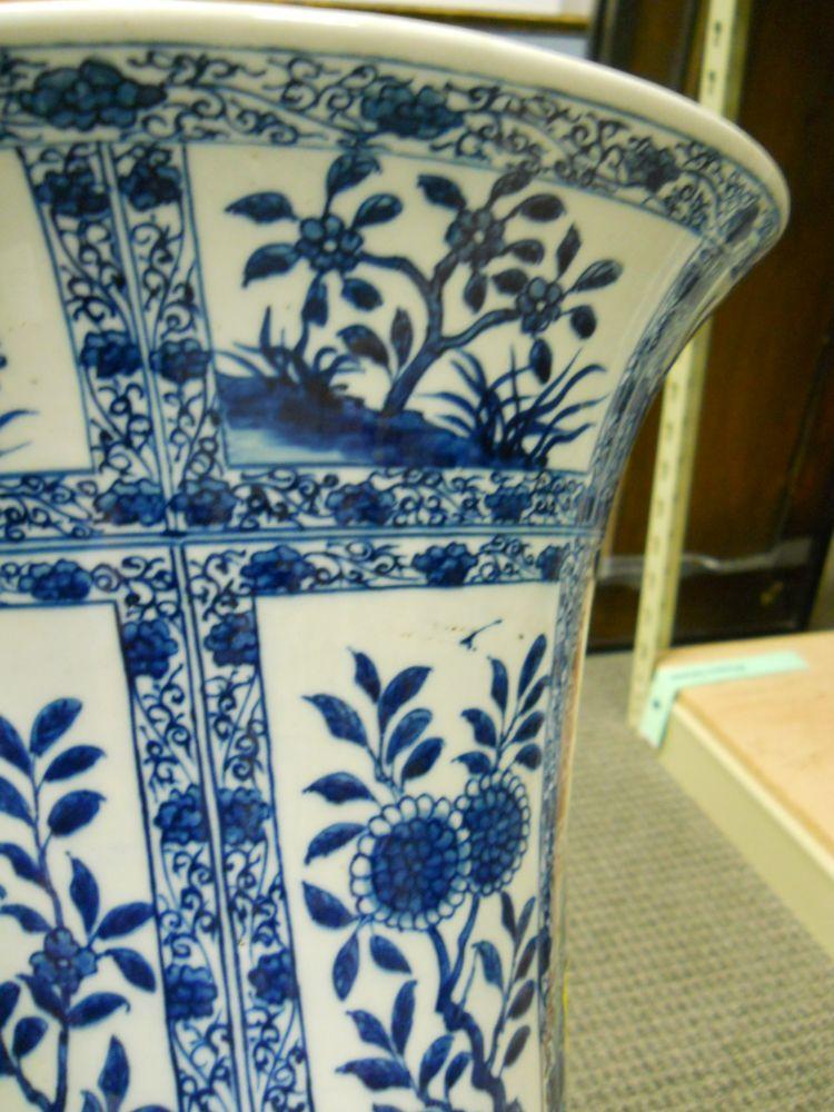 Pair of Blue and White Porcelain Vases