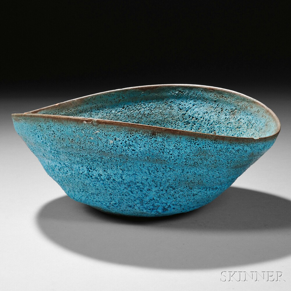 Beatrice Wood (1893-1998) Lava Glaze Pottery Bowl