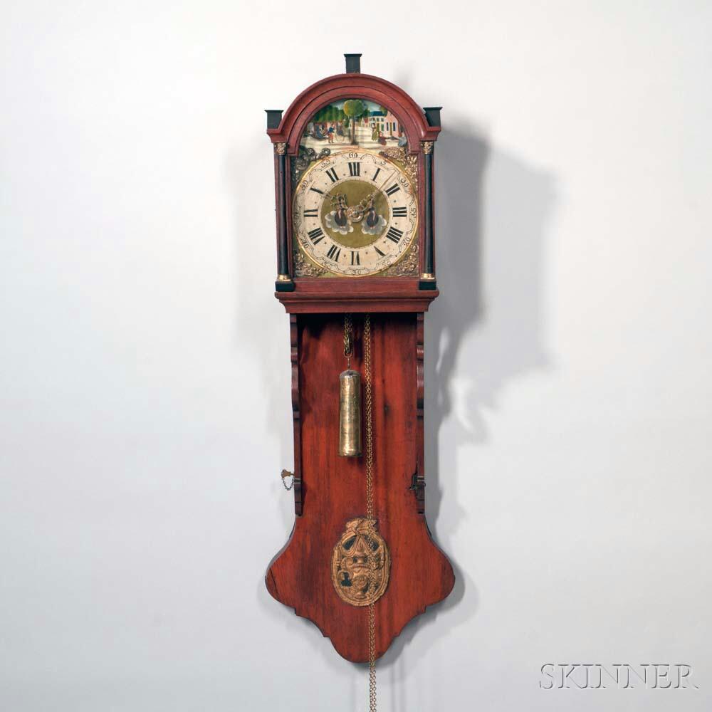 Mahogany Freisland Wall Clock with Automata