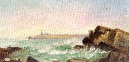 American School, 19th Century    Lot of Three Coastal Views Including:  Yellow Head, Cape Elizabeth, Maine
