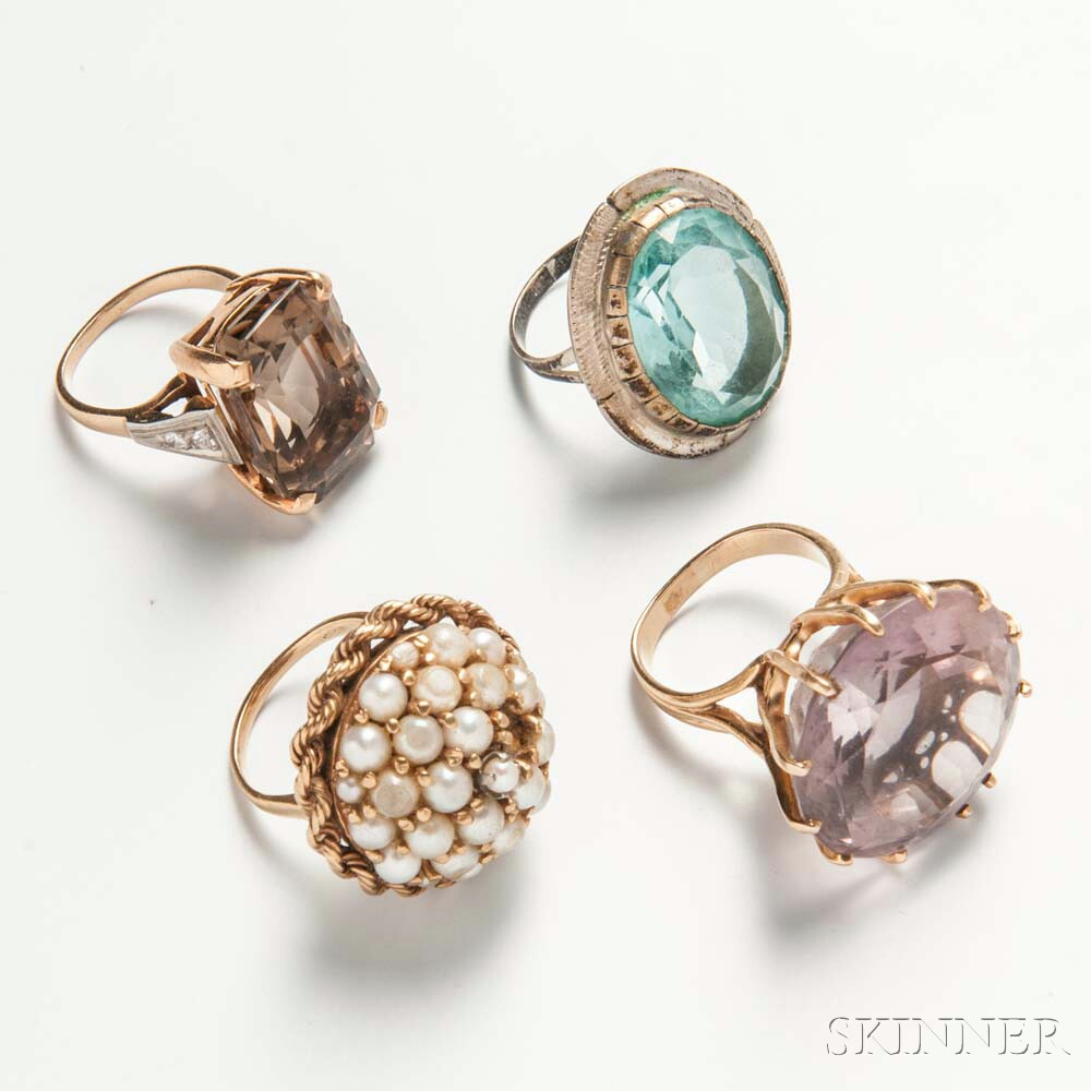 Four Cocktail Rings