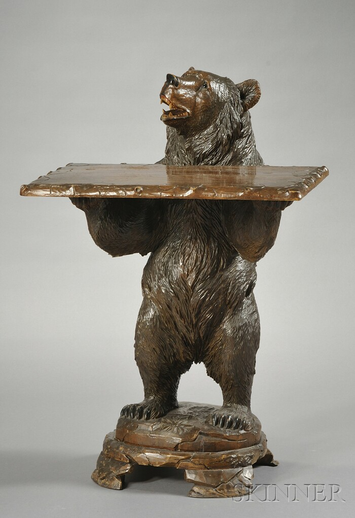 Black Forest Bear-form Occasional Table