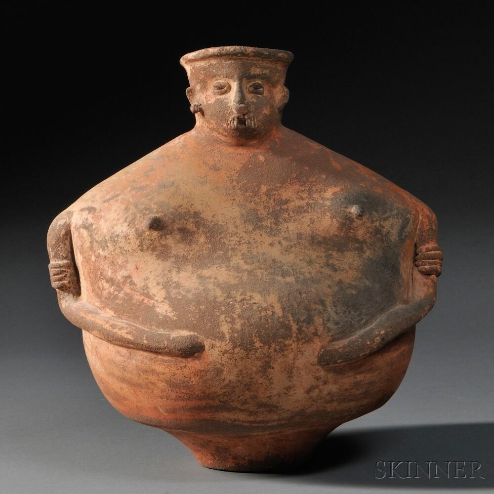 Pre-Columbian Female Effigy Vessel