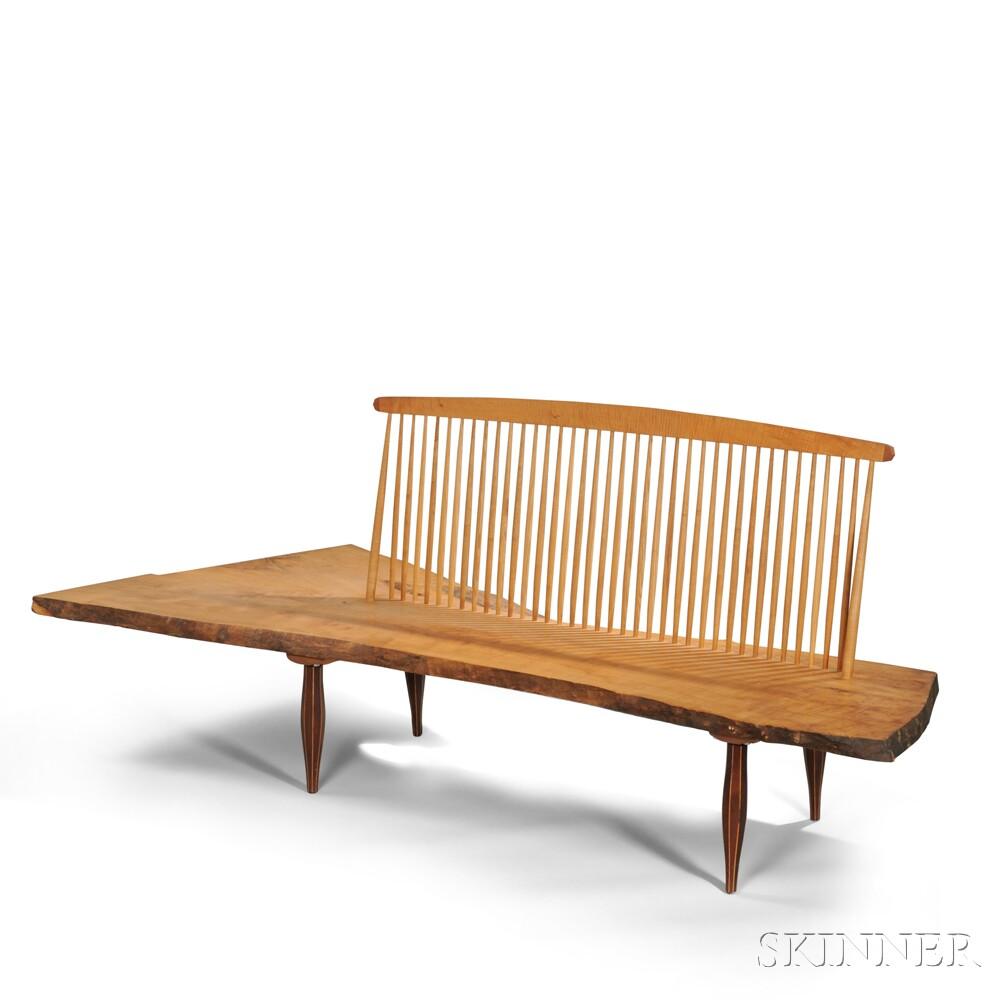 Studio Craftsman Free Edge Spindle Back Bench Sale Number 2830b Lot Number 296 Skinner