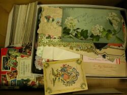 Collection of 19th/20th Century Chromolithograph Holiday Cards and Valentines.