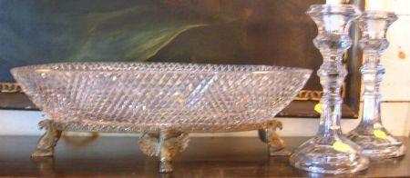 Empire-style Gilt Bronze Mounted Cut Glass Centerbowl