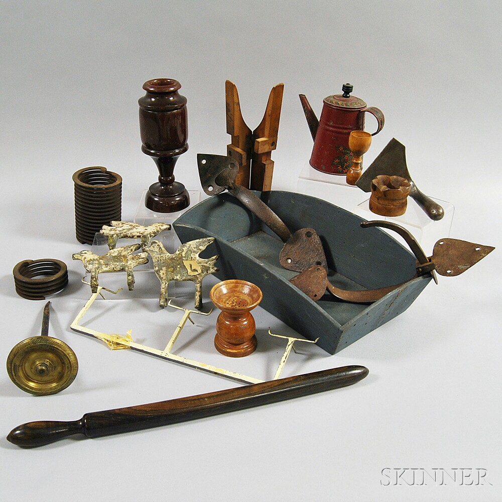 Group of Wooden and Metal Objects