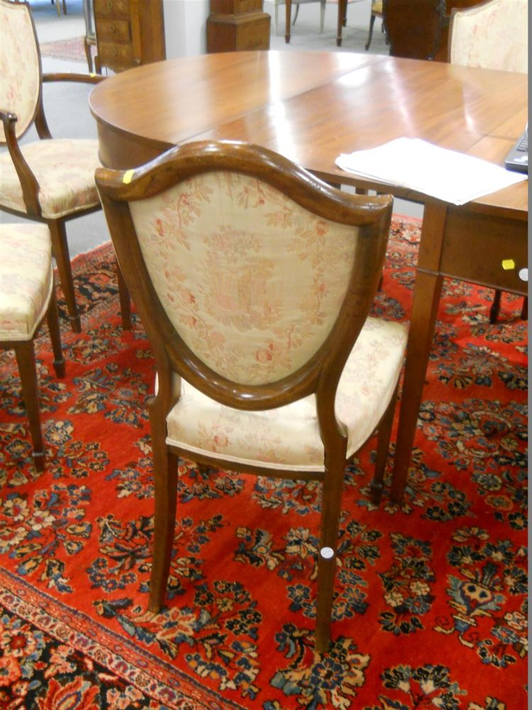 Eight Hepplewhite-style Dining Chairs