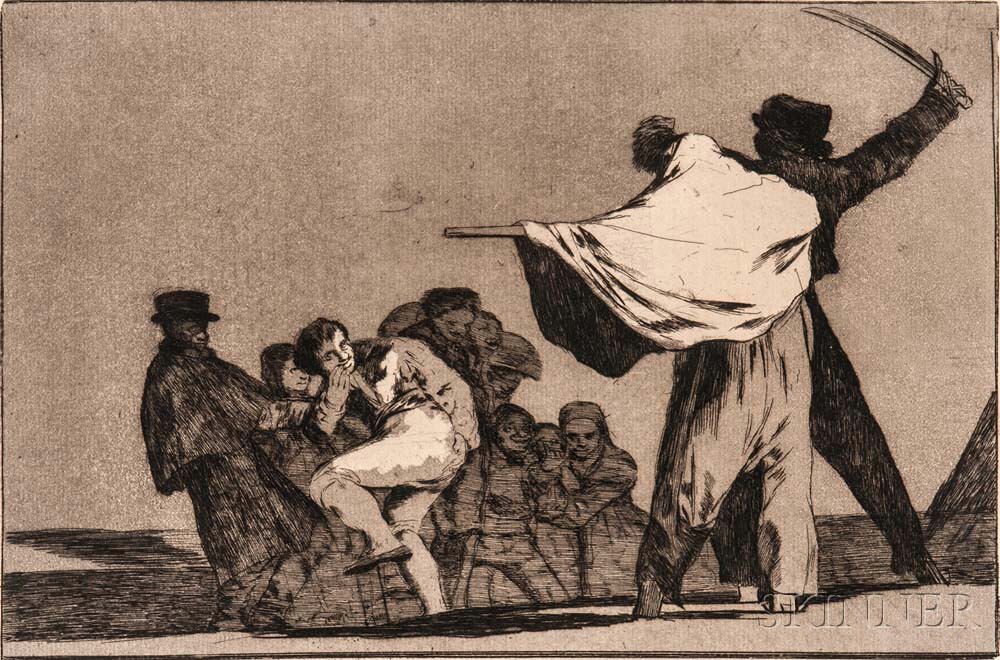 Francisco de Goya (Spanish, 1746-1828)      Disparate Conocido (Que Guerraro)