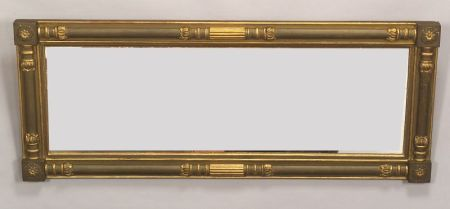 Classical Gilt and Painted Gesso Over Mantel Mirror