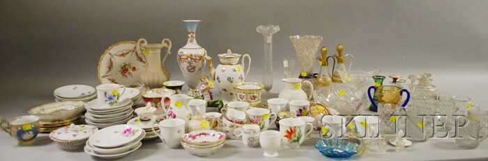Large Lot of Miscellaneous Ceramic and Glass Tableware