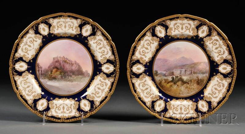 Two Royal Doulton Porcelain Cabinet Plates