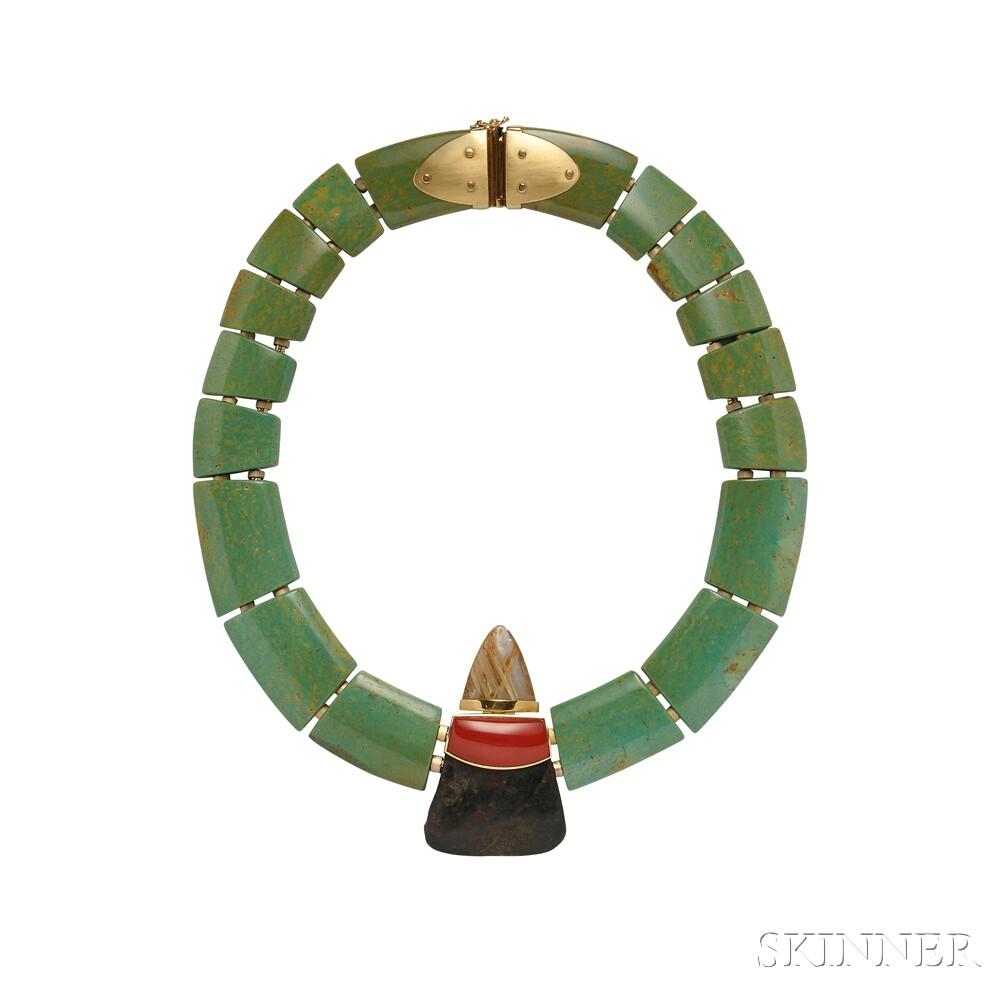 Hardstone Necklace, Luna Felix