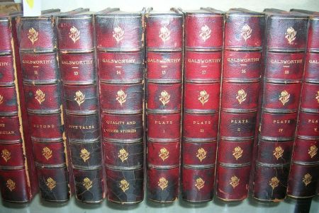 Group of Approximately Thirty-one Leather-Bound Volumes