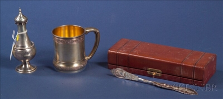 Gorham Aesthetic Movement Gold-washed Sterling Mug