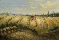 American School, c. 1900  Harvesting the Hay.