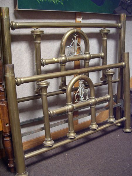 Turn-of-the-Century Brass Bed.