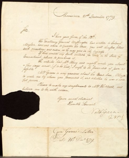 Greene, Nathanael (1742-1786)