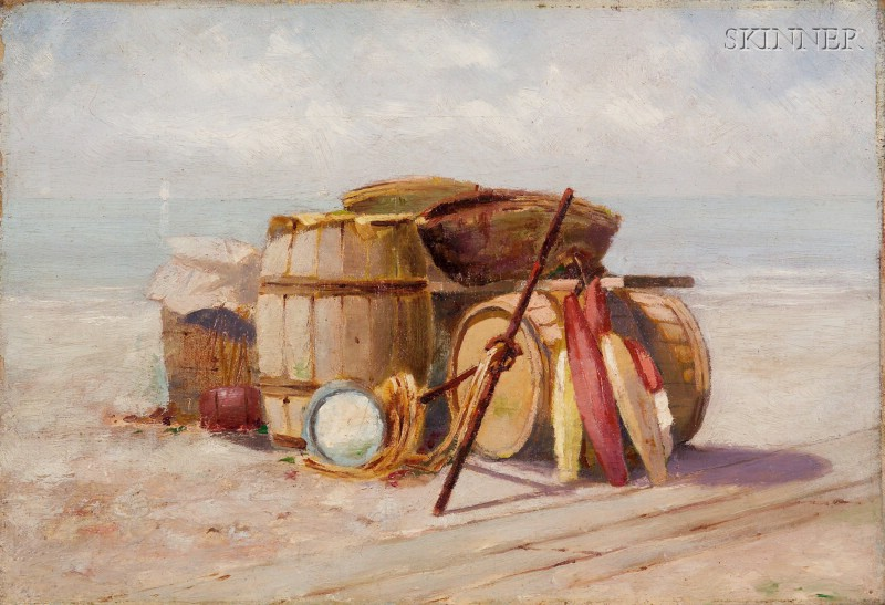 Attributed to Nathaniel Leander Berry (American, 1859-1929)      Beach Still Life