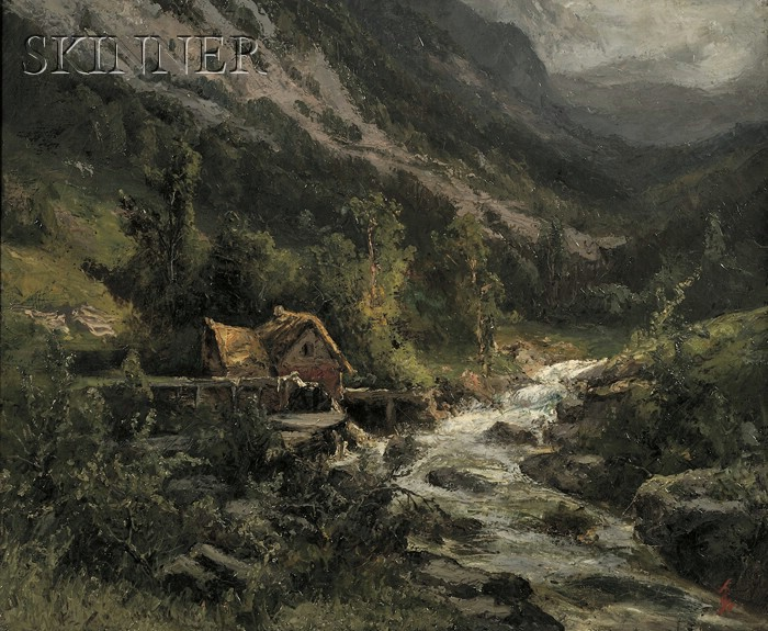 Thomas Corwin Lindsay (American, 1839-1907)      The Storm, Saracca Valley, Pennsylvania