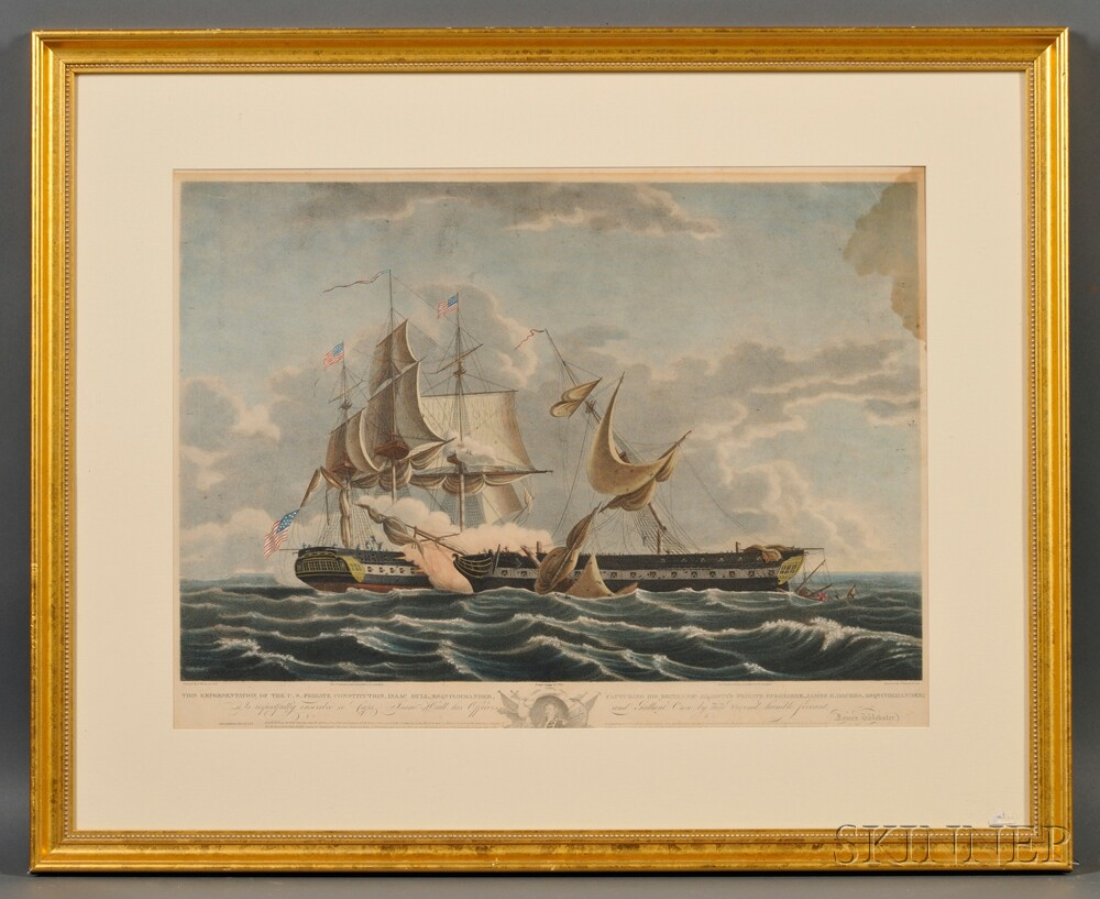 After Thomas Birch (American, 1779-1851),      ...The U.S. Frigate Constitution Capturing His Britannic Majesty's Frigate Guerriere...