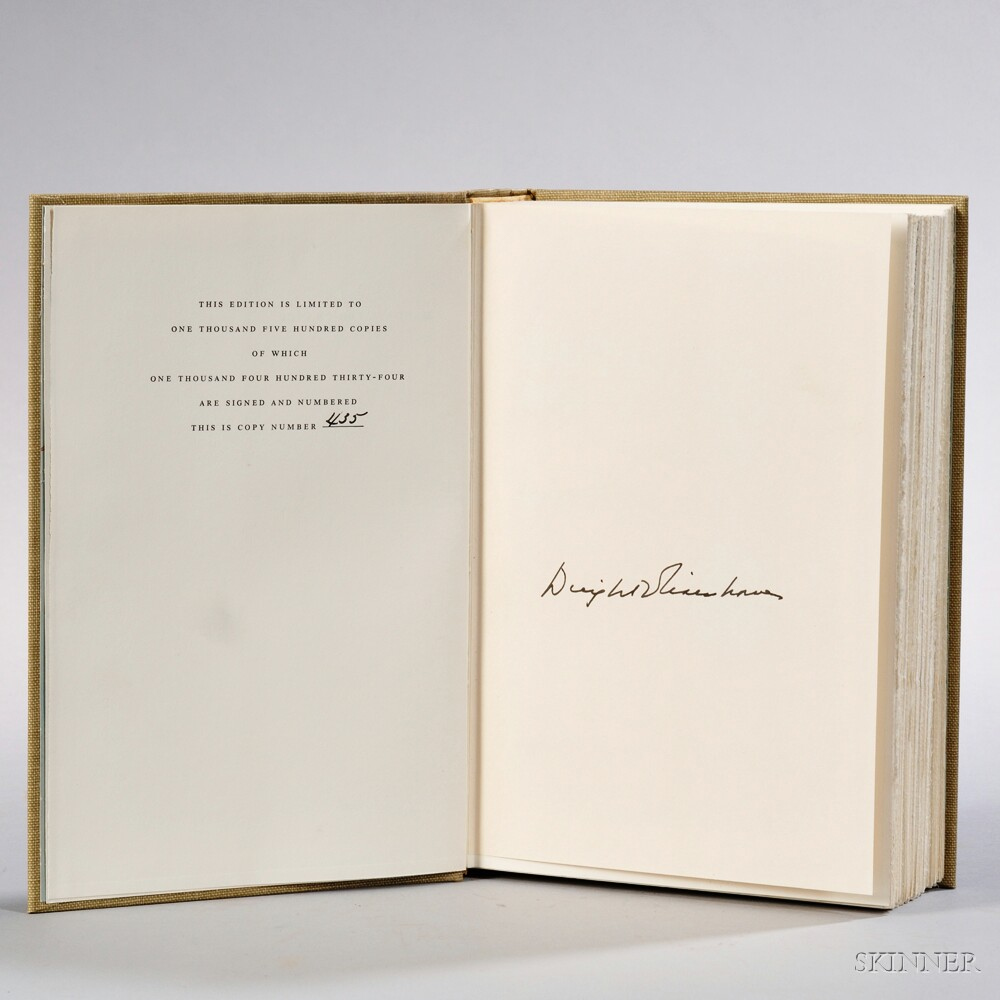 Eisenhower, Dwight D. (1890-1969) The White House Years: Mandate for Change 1953-1956,   Signed Copy.