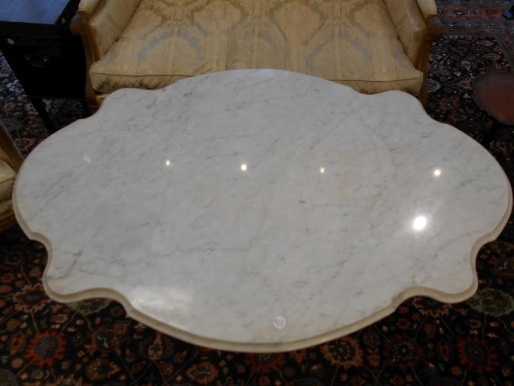 Louis XV-style Gilt-bronze and Marble-top Table