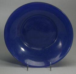 Peking Cobalt Blue Glass Low Bowl.
