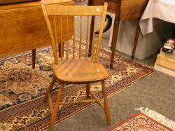 Three Windsor Thumb-back Side Chairs.