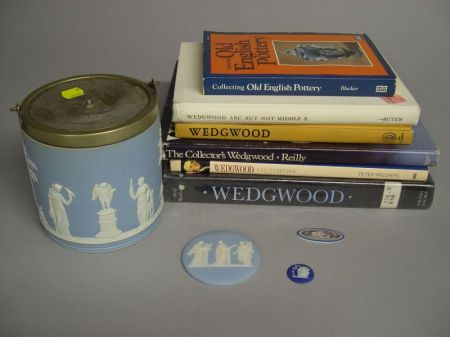 Six Wedgwood Jasper Items and Six Related Reference Books
