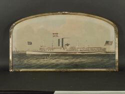 Chromolithograph Print Of The Steamer Plymouth Rock