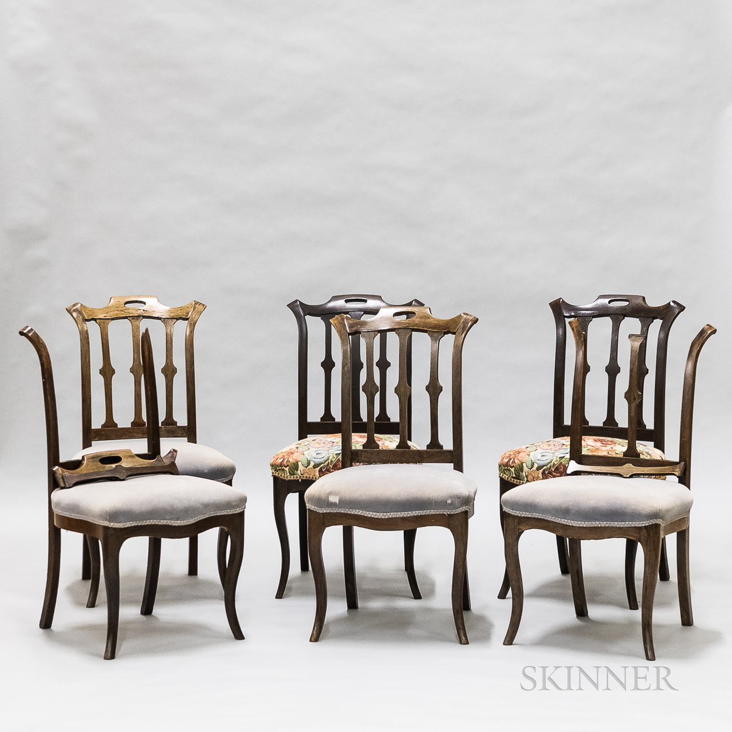 Set of Six Victorian Rosewood Side Chairs