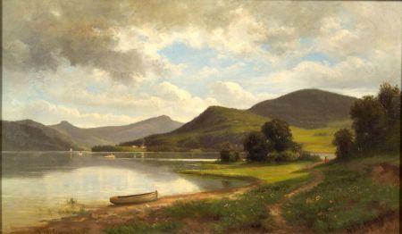 Nicolay Tysland Leganger (American, 1832-1905)    Lake George