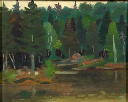 Jean Paul Lemieux (Canadian, 1904-1990)    Woodland Sketch