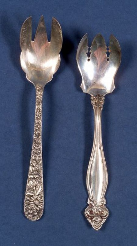 Two Sets of Six Sterling Ice Cream SpoonsTwo Sets of Six Sterling Ice Cream...