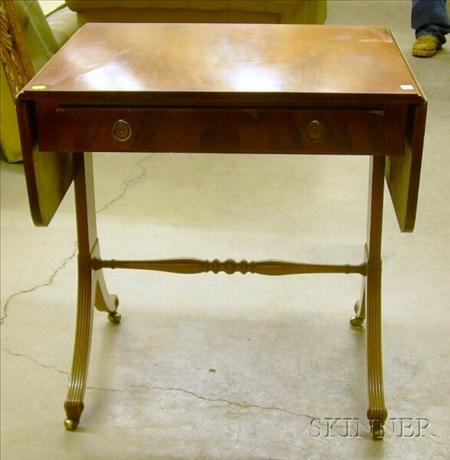 Frederick Tibbenham Ltd. Georgian-style Mahogany and Yewwood Veneer Sofa Table