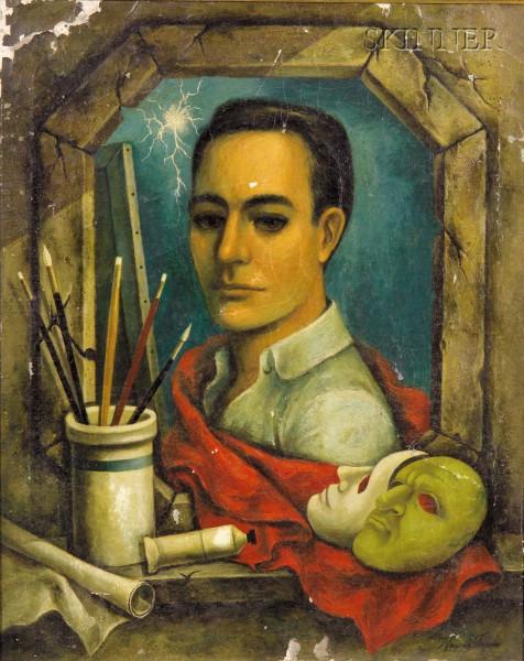 Wayne Terry (American, 20th Century)      Self Portrait