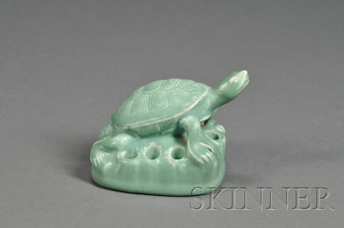 Rookwood Pottery Turtle-form Flower Frog
