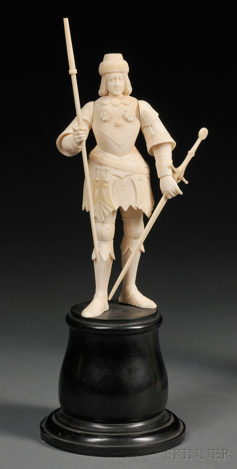 Carved Ivory Figure of a Knight