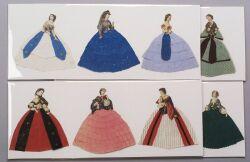 Group of Twenty-seven Handmade Lady Paper Dolls