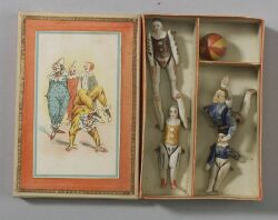 Boxed Set of All-Bisque Acrobats