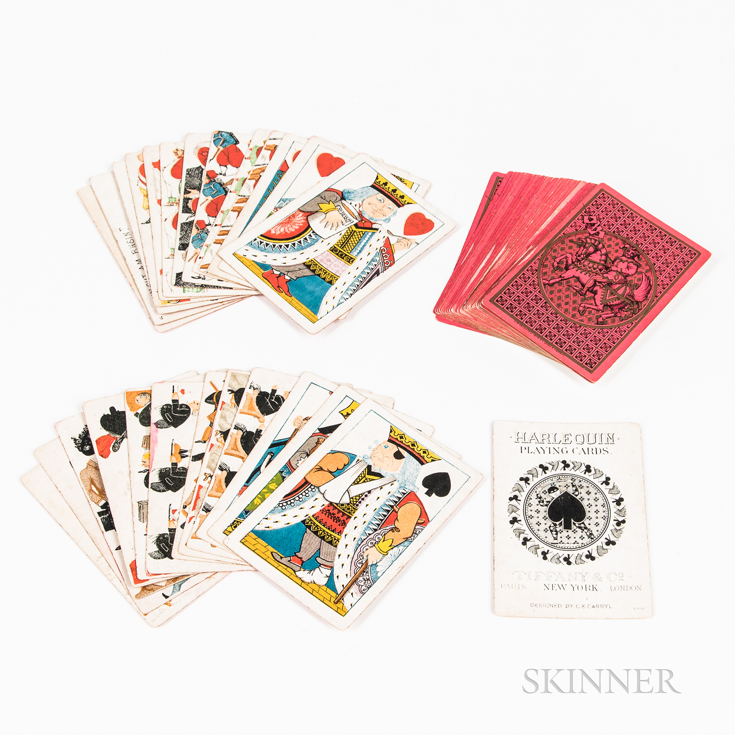 """Deck of """"Harlequin"""" Playing Cards"""