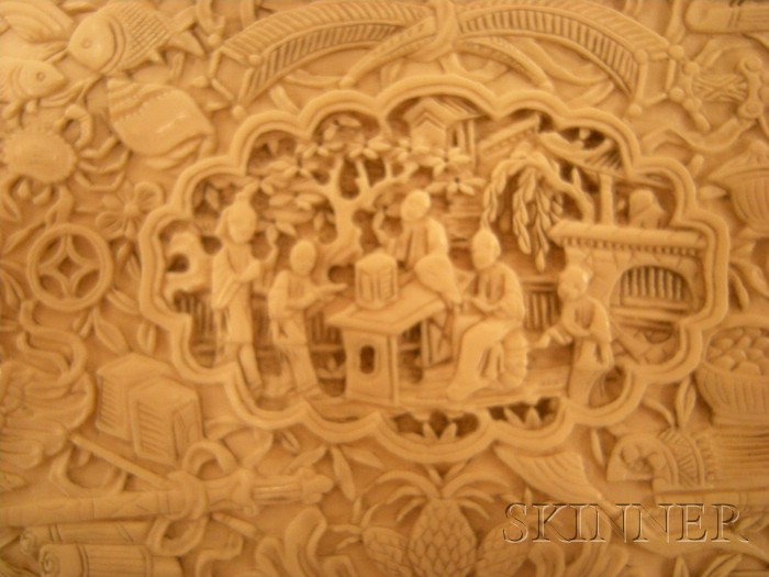 Carved Ivory Box