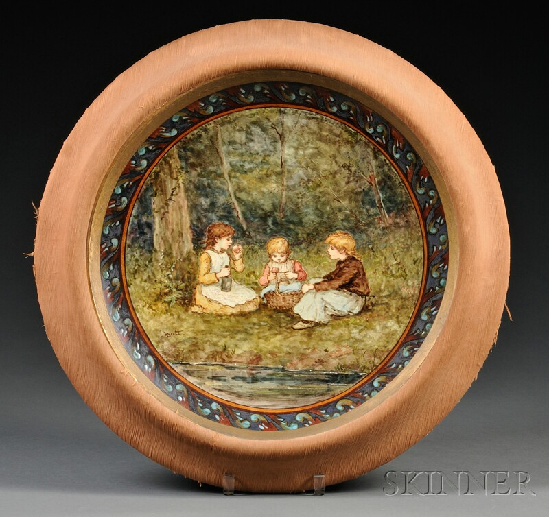 Doulton Lambeth Faience Hand-painted Charger