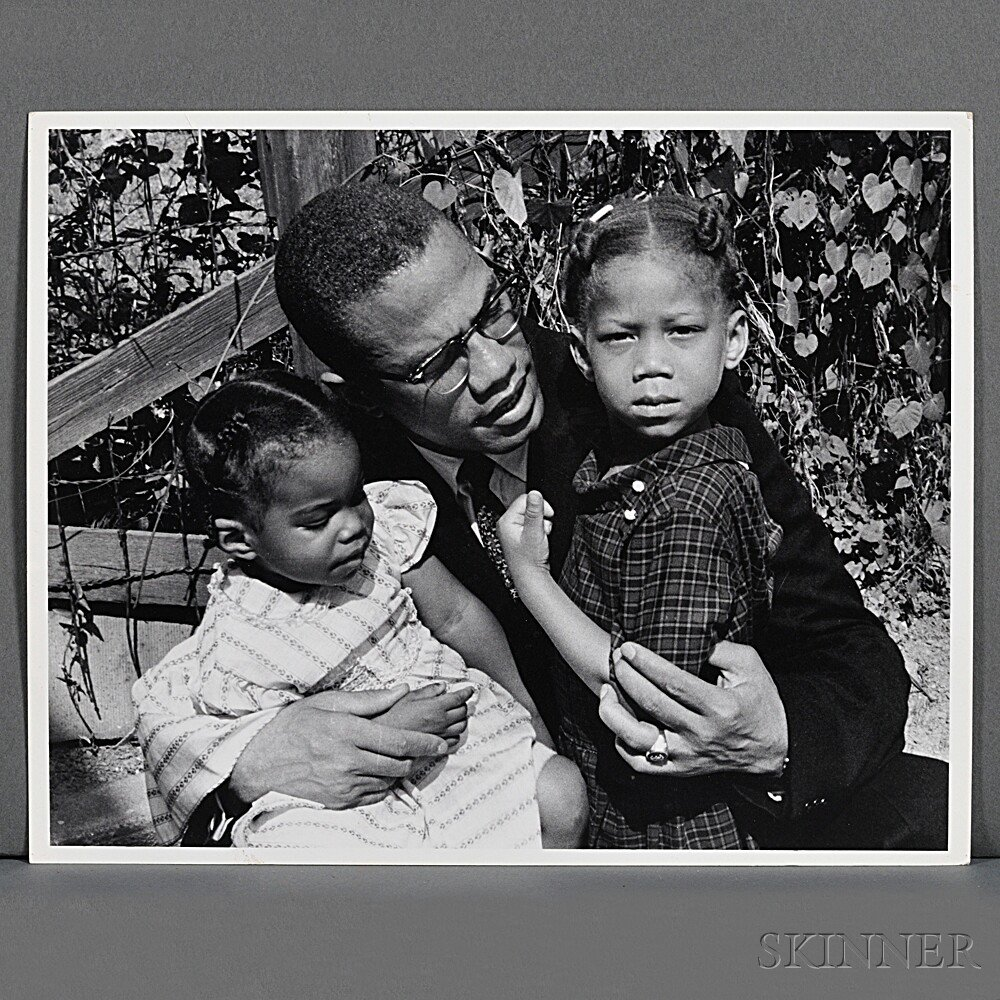Malcolm X (1925-1965) Six Family Photographs Taken by Robert Haggins (1922-2006)