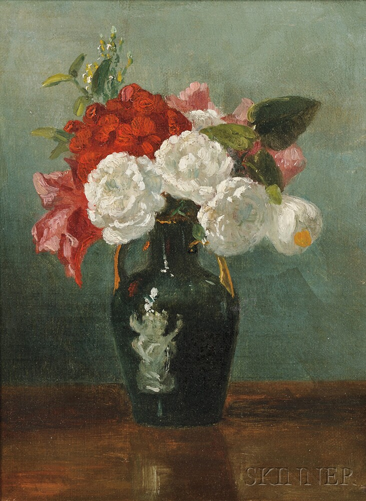 Attributed to Benjamin Champney (American, 1817-1907)      The Little Bouquet