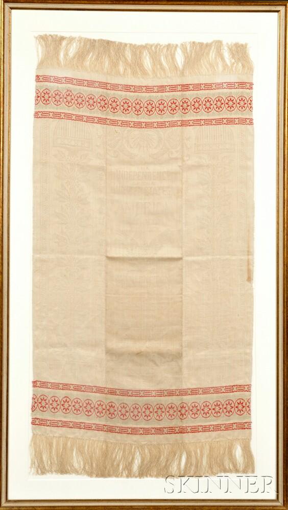 Centennial Embroidered Linen Towel