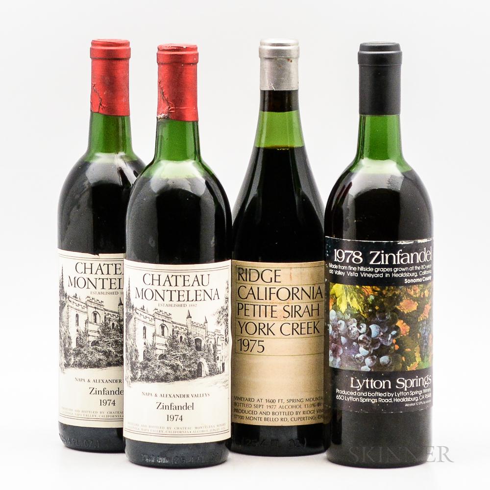 Mixed California Wines, 4 bottles
